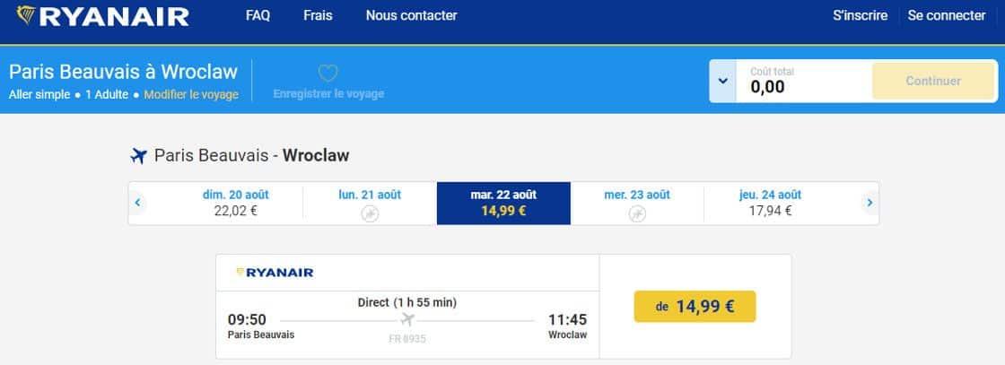 Ryanair Rabais