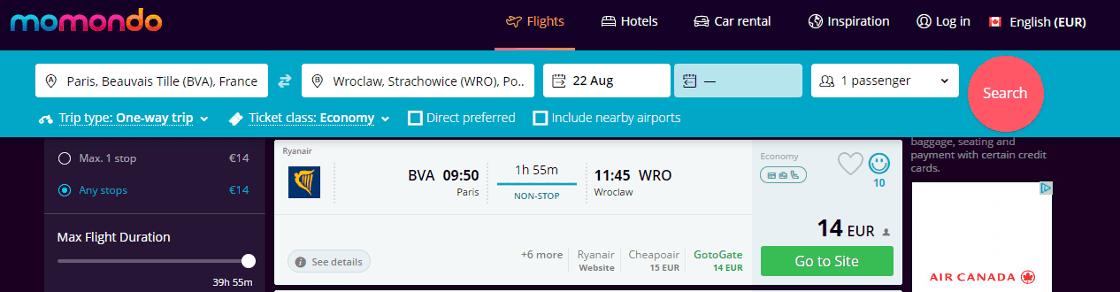 Rabais Ryanair