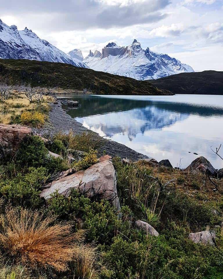 lac Pehoé à Torres del Paine