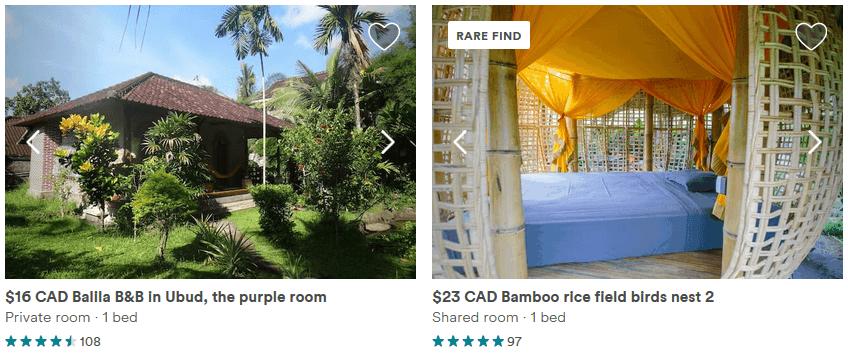 Bali pas cher