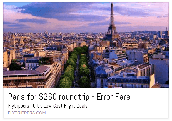 "What are ""error fares"""