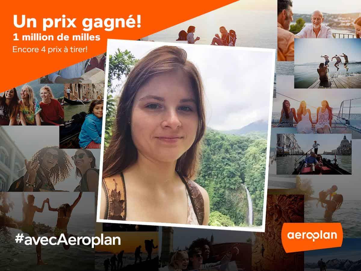 Une lectrice gagne 1 million de milles Aeroplan grâce à Flytrippers