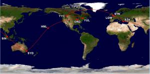Un iPhone ou un tour du monde? Visitez Hawaï, Australie, Singapour, Grèce, Angleterre et Irlande pour le même prix!