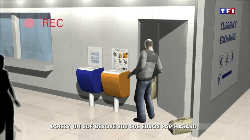Un sans-abri dérobe 450 000$ à l'aéroport de Paris par hasard