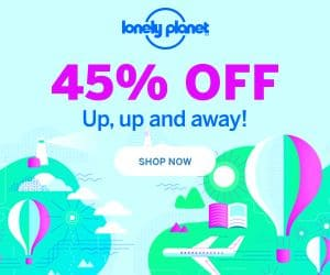 45% Off All Lonely Planet Books