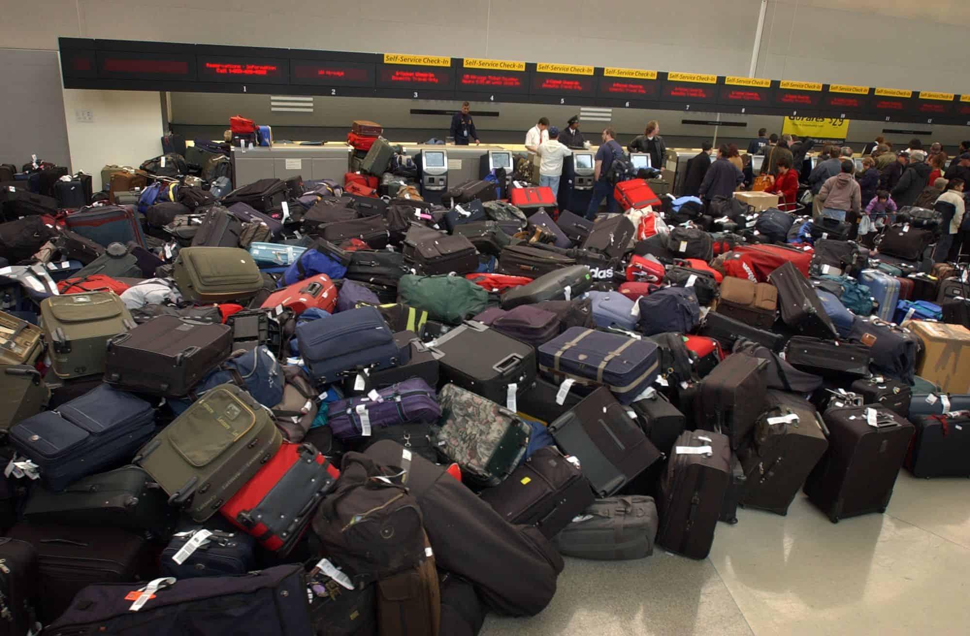 60 000 bagages sont perdus à chaque jour (un à chaque seconde et demi)
