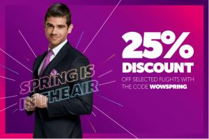 Read more about the article 22% de rabais sur WestJet et 25% de rabais sur WOW air