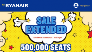 Flights at only £4.99 ($9 CAD): Ryanair Sale in Europe