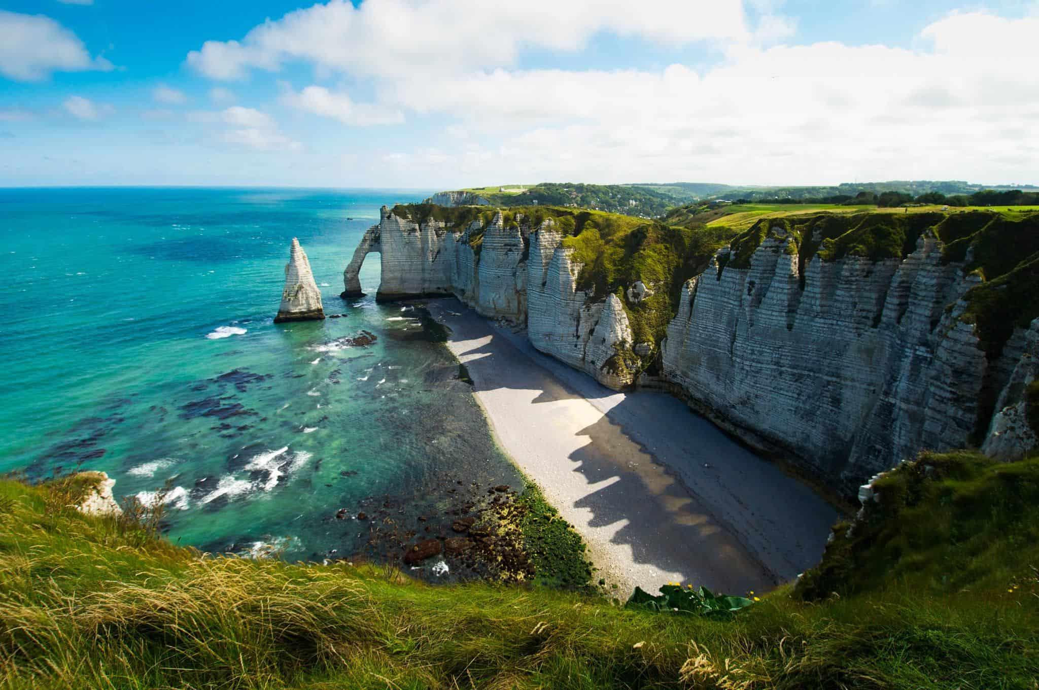Les falaises d'Étretat en Normandie