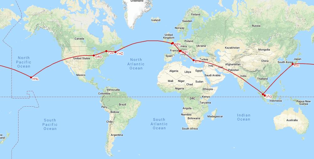 Tour du monde pas cher