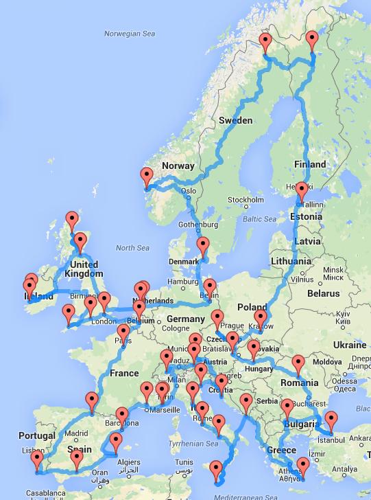 roadtrip Europe