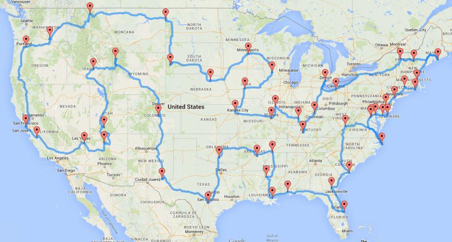 You are currently viewing L'itinéraire parfait pour un roadtrip américain épique (48 États d'un seul coup)