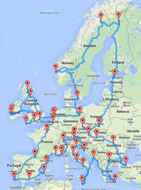 Roadtrip europe