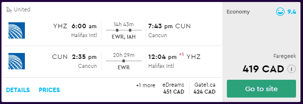 cheap flights halifax