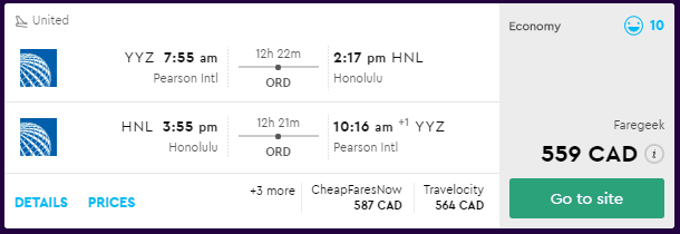 cheap flights toronto
