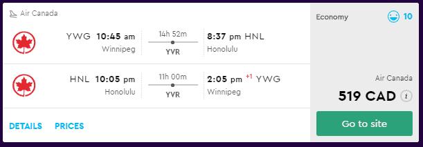 cheap flights winnipeg