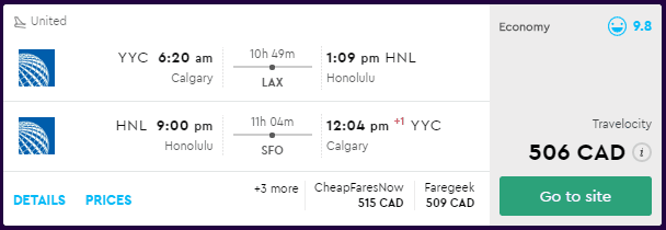 cheap flights calgary