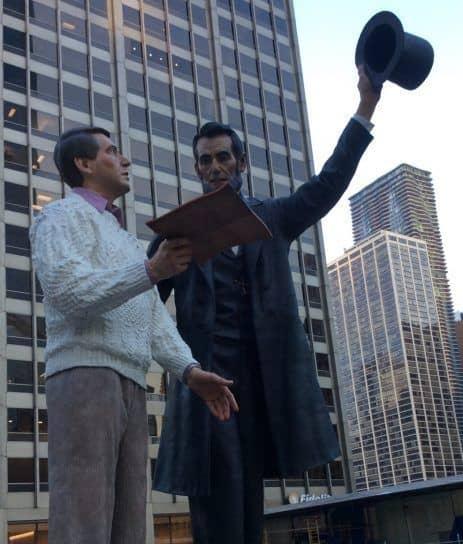 statue Lincoln à Chicago