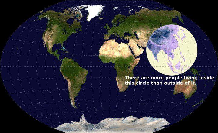 Il y a plus de gens vivant dans ce cercle qu'à l'extérieur
