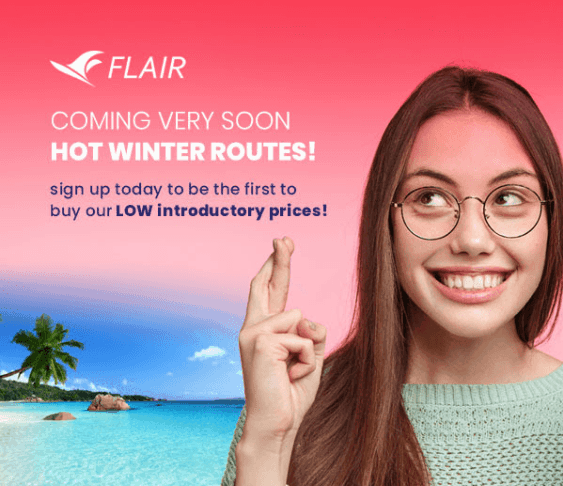 Canada's Other Ultra Low-Cost Carrier Teasing Upcoming Warm-Weather Destinations…