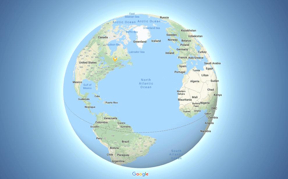 La Terre est maintenant ronde (sur Google Maps)