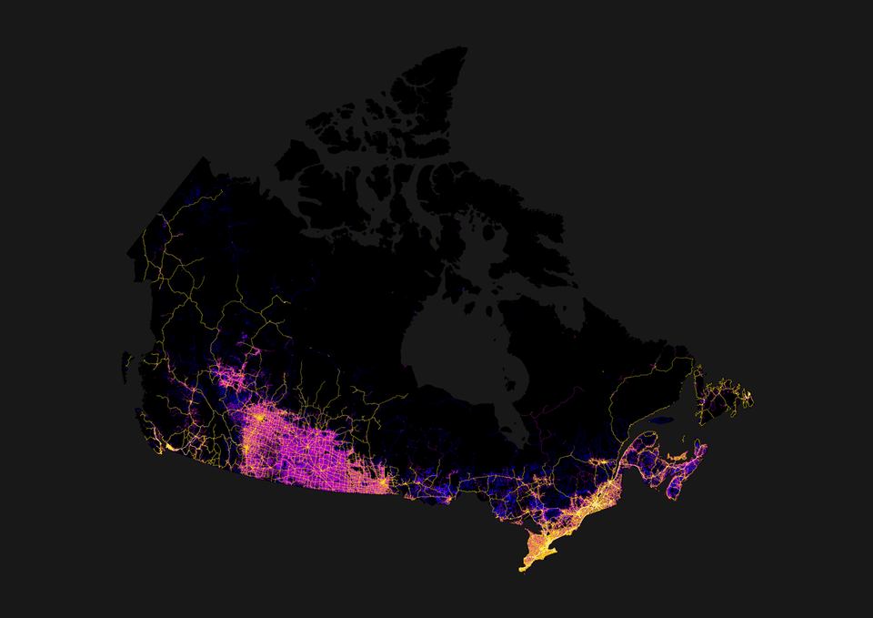 map canadian roads