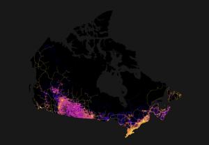 Une carte du Canada qui montre à quel point le Nord est incroyablement isolé