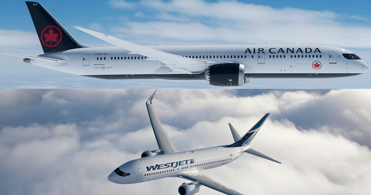 Air Canada ou WestJet ?
