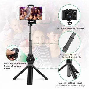 Selfie Stick with Tripod Stand – Wireless
