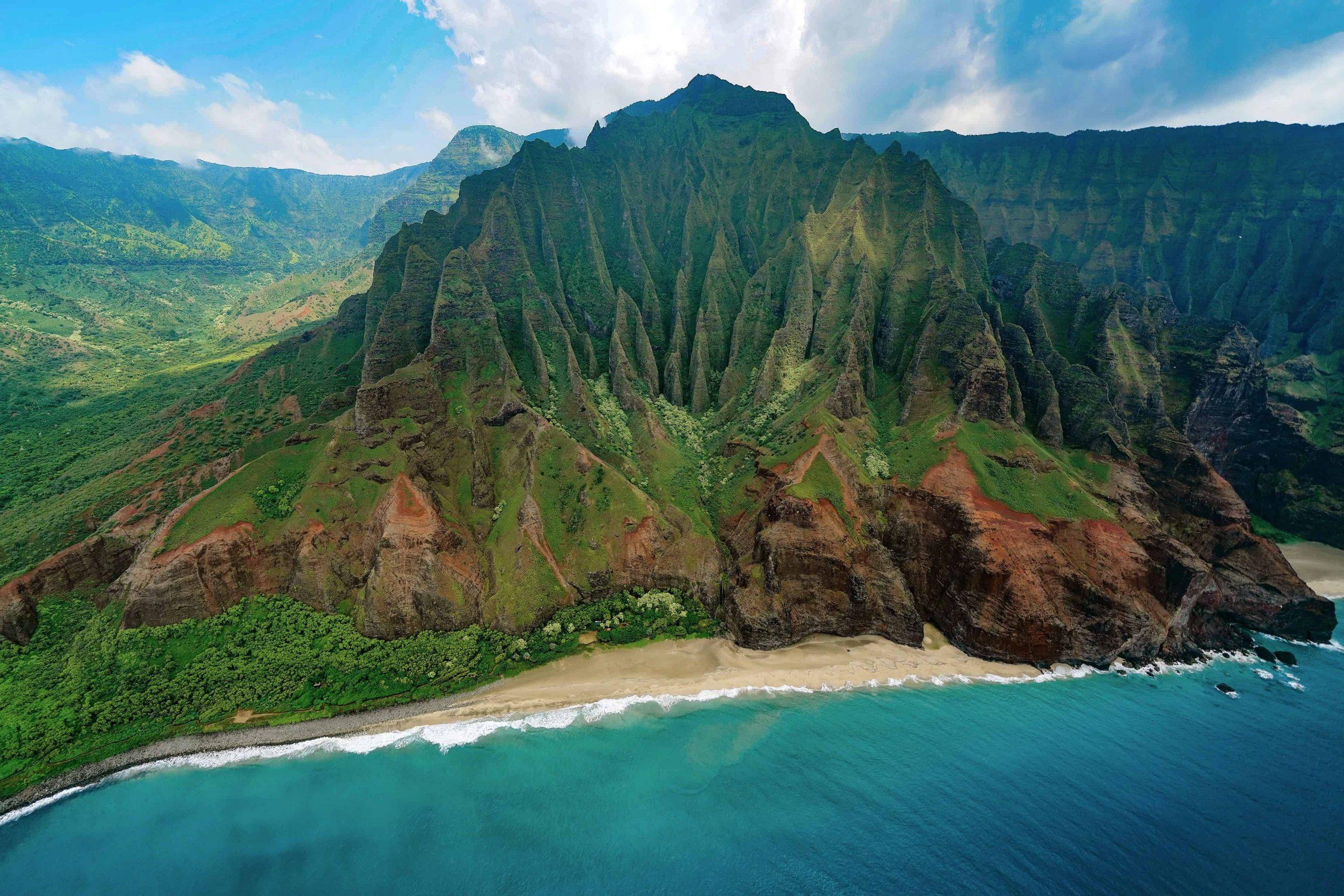 4 photos de chacune des 4 îles hawaïennes à visiter