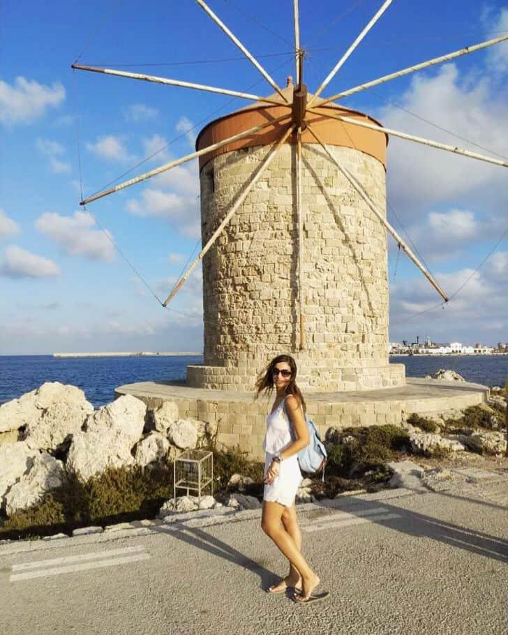 Rhodes port windmills
