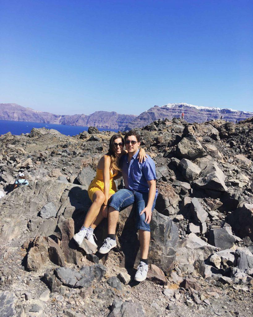 Nea Kameni volcano Santorini