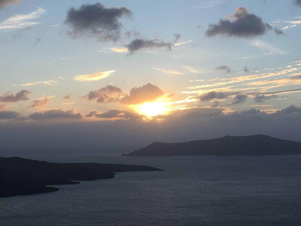 Sunset Caldera Fira Santorini