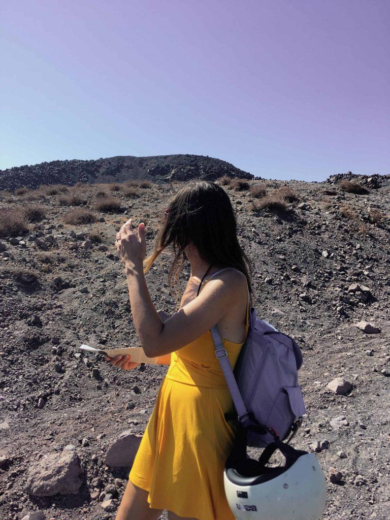 volcano Nea Kameni Santorini