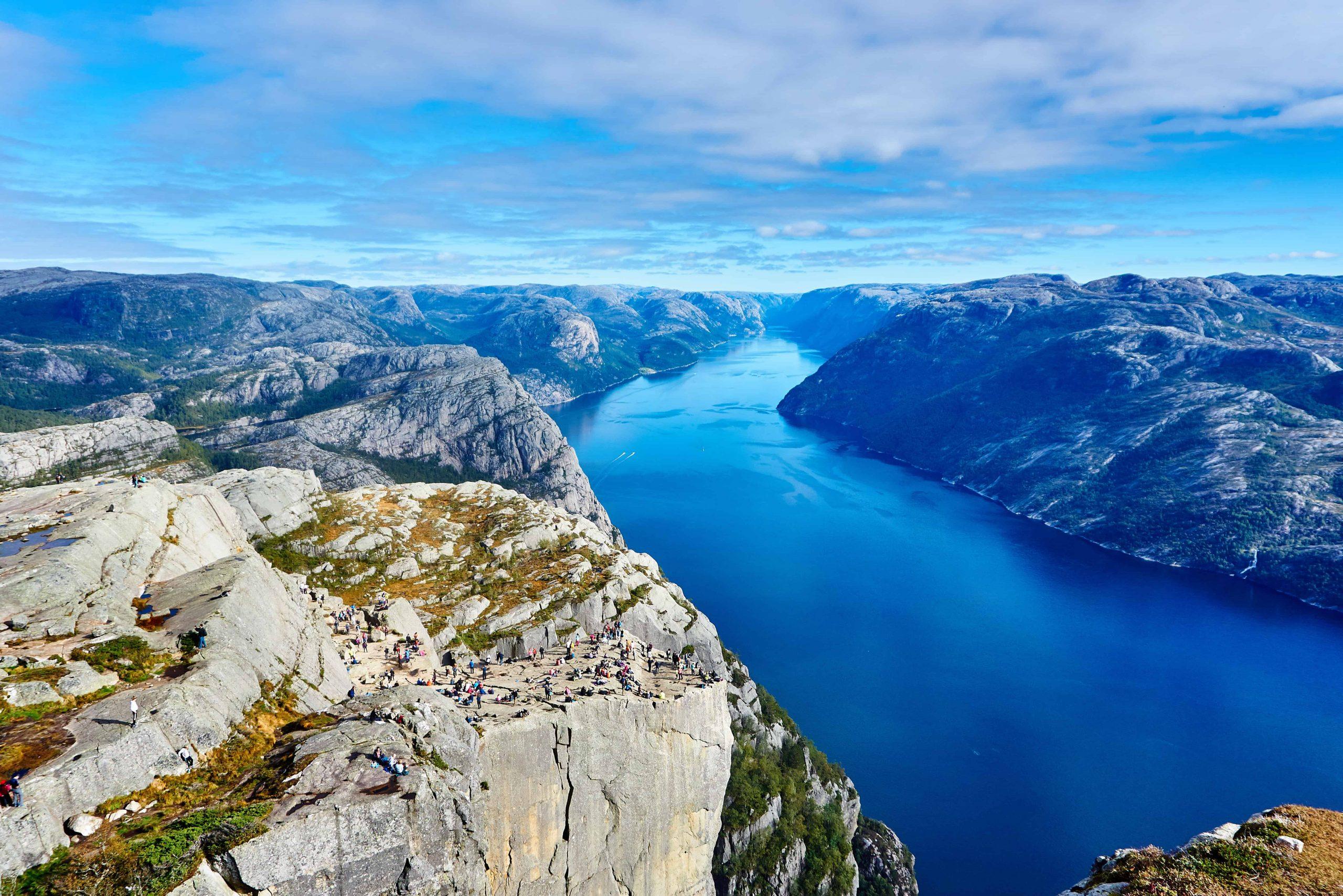La falaise du Preikestolen en Norvège