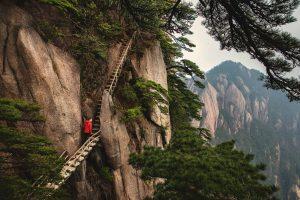 Balade dans les montagnes Jaunes en Chine