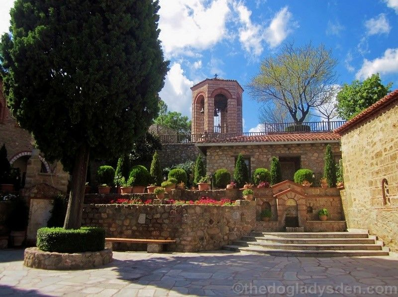 Interior courtyard, Grand Meteoran Monastery
