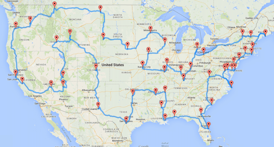 Perfect Itinerary for an Epic USA Roadtrip (48 States At Once)
