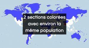 Ces 2 sections colorées ont environ la même population