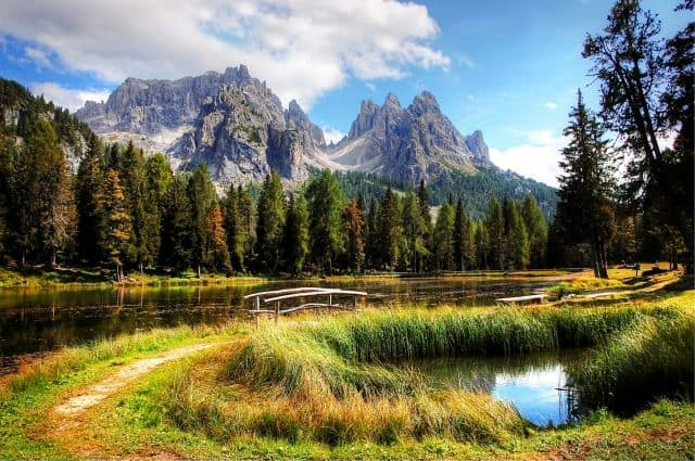 The Dolomites Mountain Range