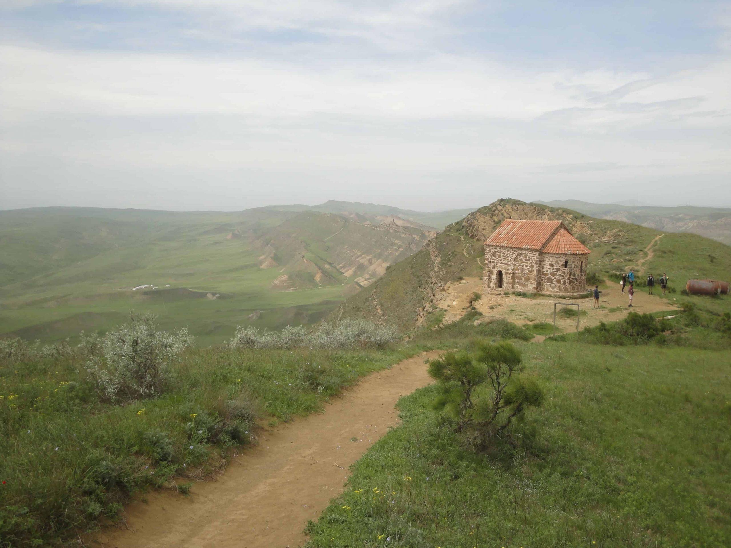 Vue sur la steppe et l'Azerbeijan