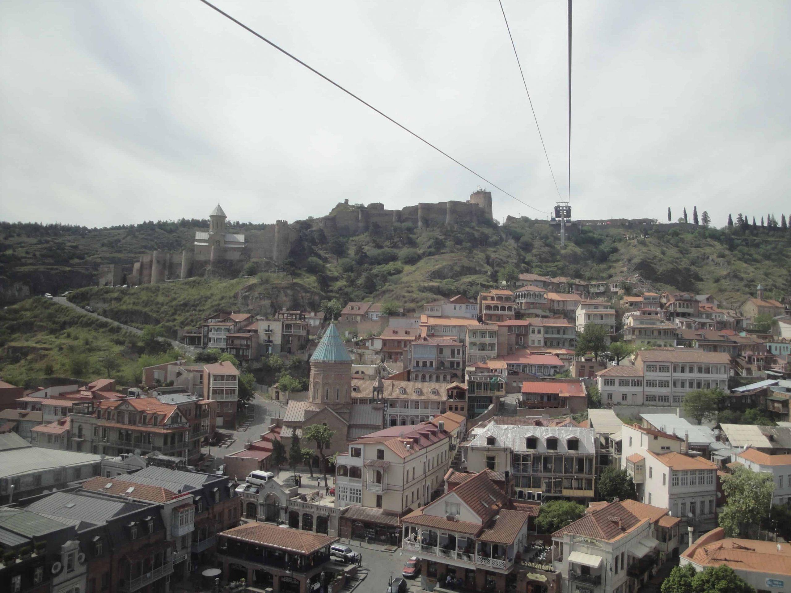 Vieux Tbilissi vue du téléphérique.