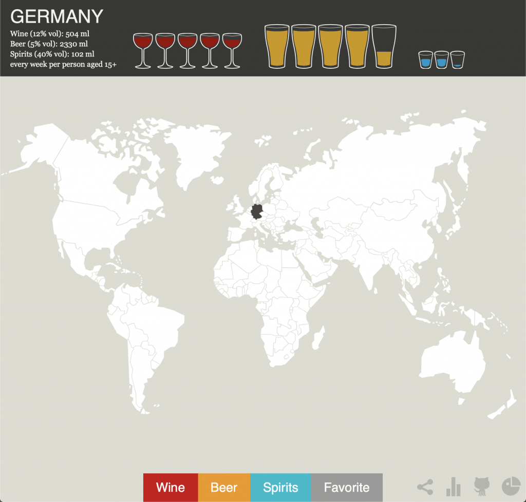 germany favorite Alcohol map