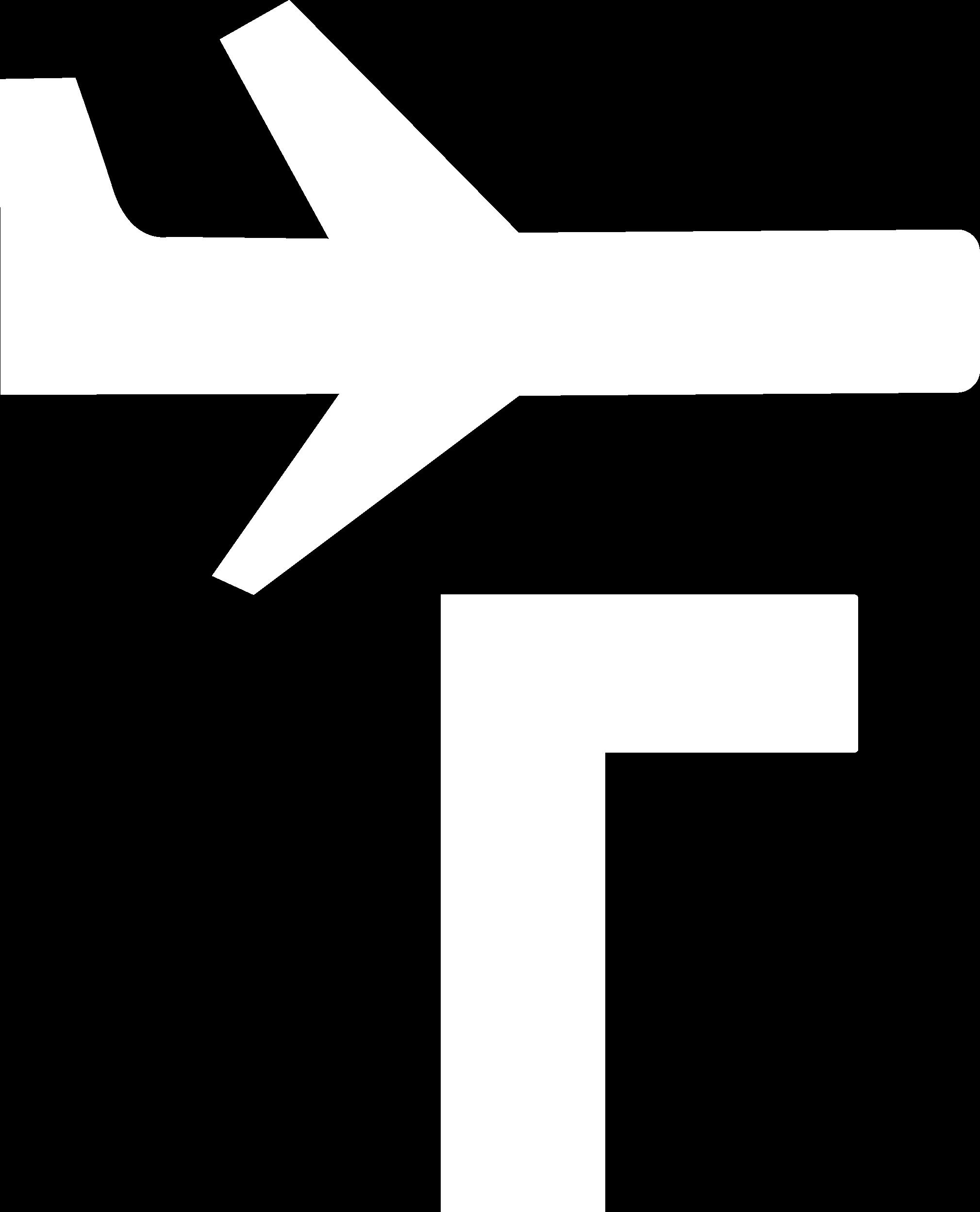F Logo - White