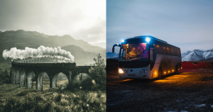10 Reasons To Travel By Bus Or Train
