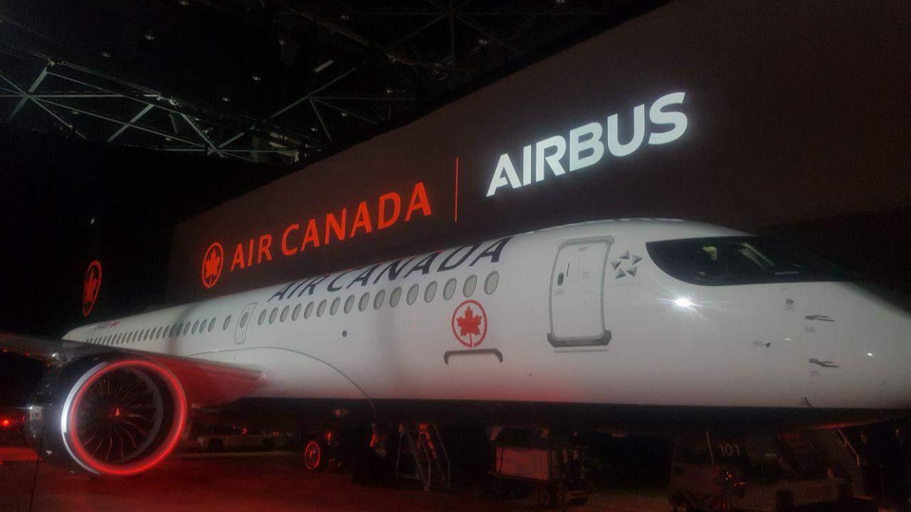 Ma journée au dévoilement du premier A220 d'Air Canada (l'ancienne C Series)