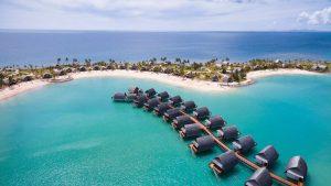 Ma nuit gratuite dans un bungalow sur pilotis à Fidji avec le certificat Marriott