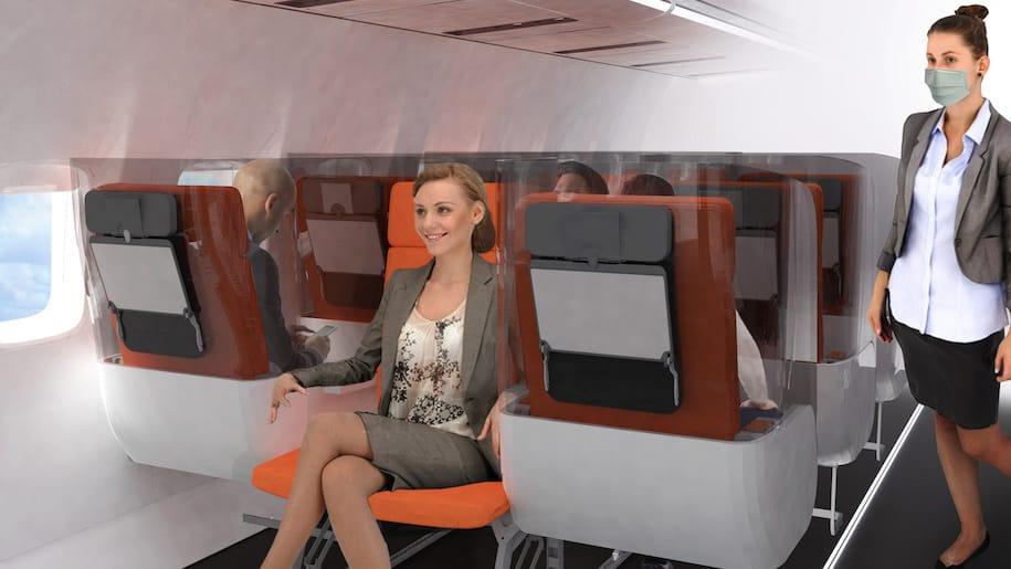 Un nouveau concept de siège d'avion conçu pour l'ère post-coronavirus