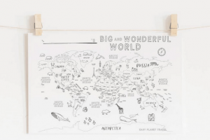 A Free Printable World Map For Your Kids To Color And Learn