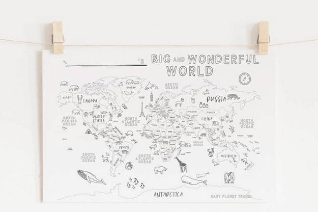 A Free Printable World Map For Your Kids To Color And Learn - Flytrippers